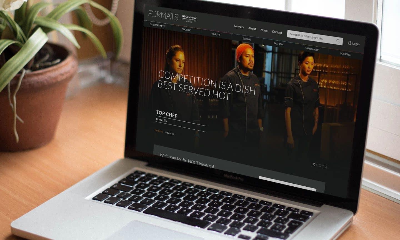 NBCUniversal Formats Website Design