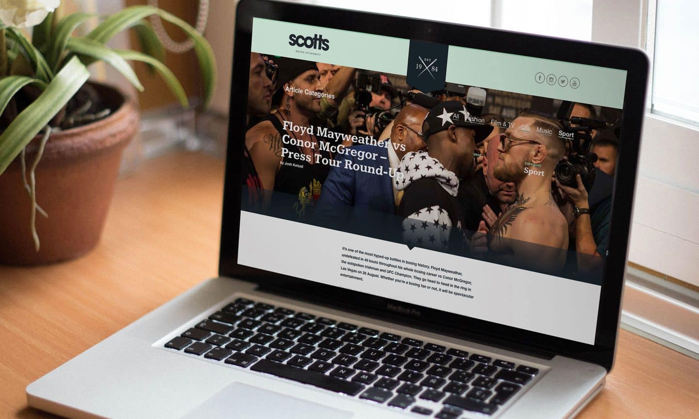 Scotts Menswear WordPress Blog