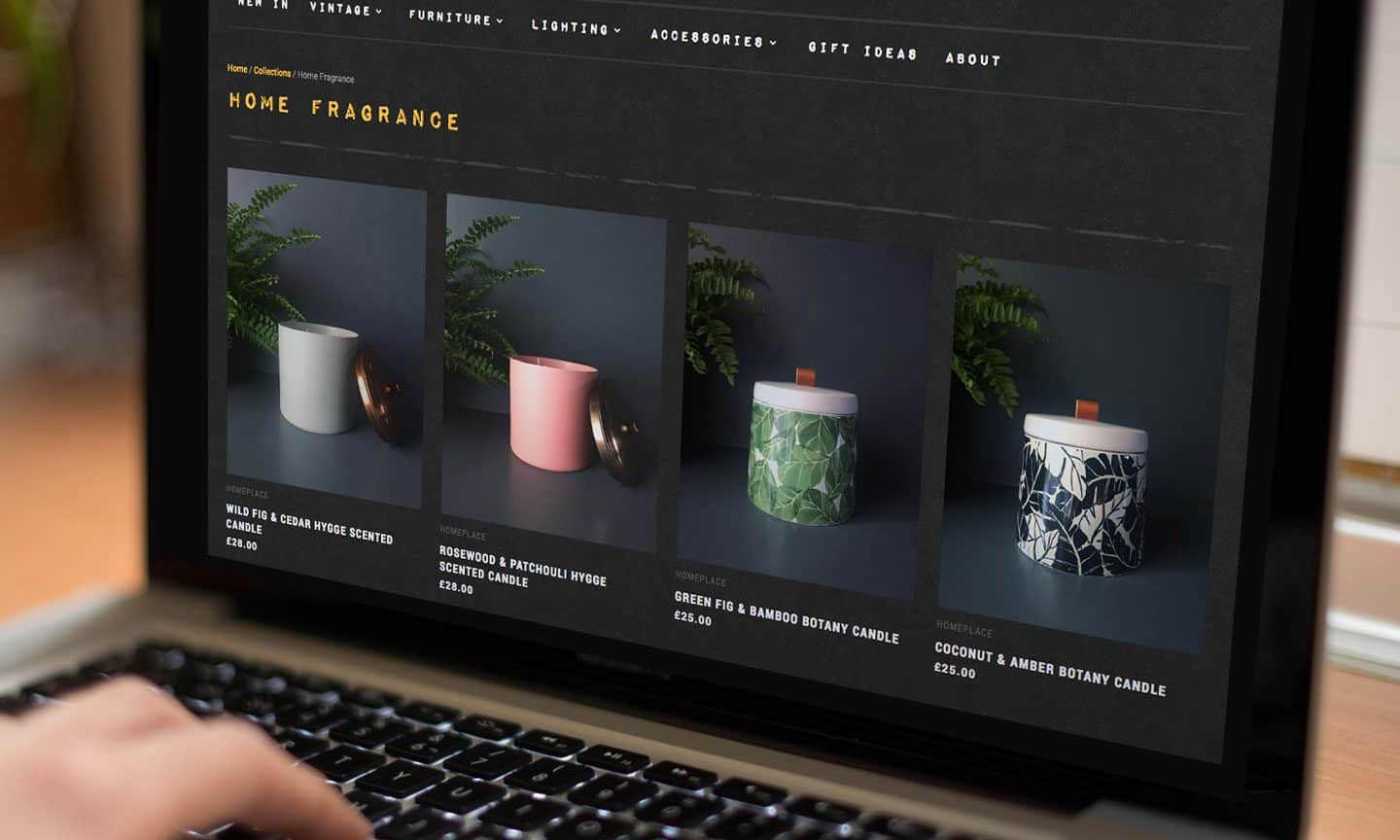 Shopify Interiors and Homeware Website Design