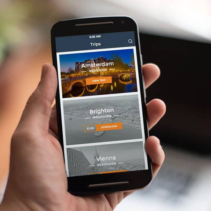 Stumbler Travel Guides iPhone App Design