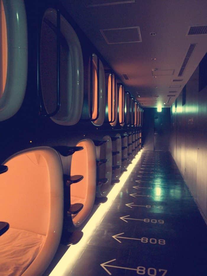 9hrs capsule hotel, Kyoto, Japan