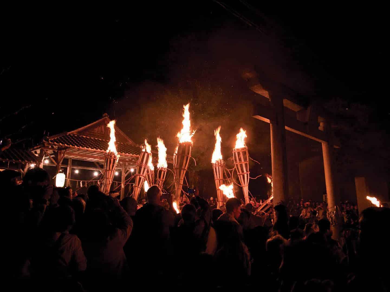 Kurama fire festival, Kyoto, Japan
